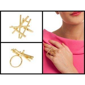TRINA TURK Gold Puili Stick Ring ~ Statement Ring